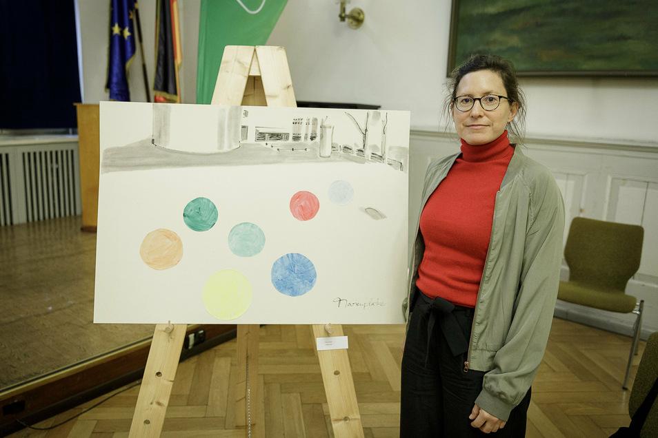 Martina Beyer:Ich möchte etwa sieben Liebesperlen mit rund 60 Zentimeter Durchmesser aus Beton bauen und mit Kunstharz überziehen. Die Leute sollen sie aktiv nutzen, Erwachsene können zum Beispiel darauf sitzen, Kinder drumherum wuseln.