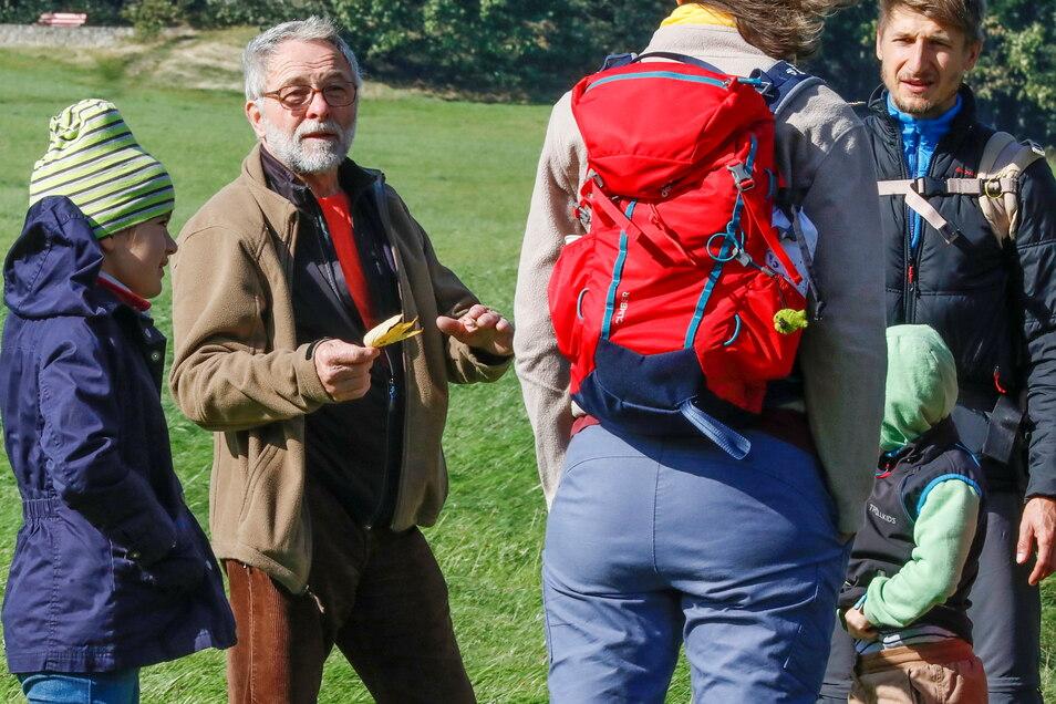 Günter Geyer macht bot Waldführungen an.