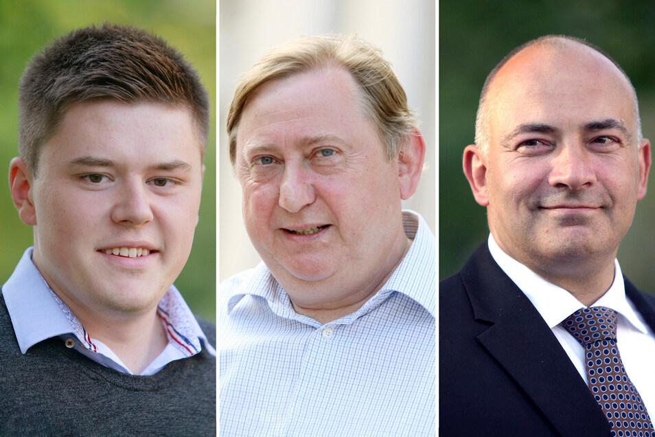 Drei Männer aus dem Landkreis SOE ziehen in den Bundestag ein, die unterschiedlicher kaum sein können. Fabian Funke (l.) und Steffen Janich (r.) sind Neulinge, André Hahn langjähriger Abgeordneter.