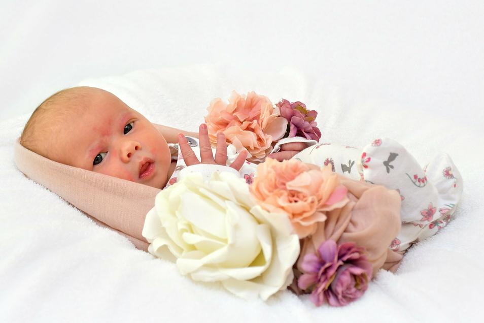 Myla Maxie, geboren am 11. Dezember, Geburtsort: Freital, Gewicht: 3.870 Gramm, Größe: 49 Zentimeter, Eltern: Candy Splett und Frank Lutze mit Lijan Splett, Wohnort: Freital