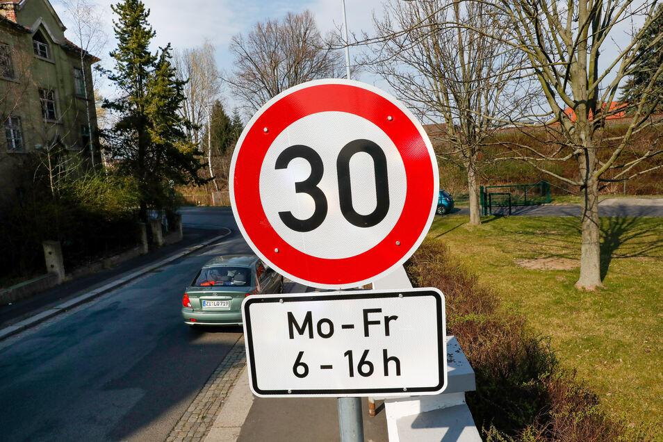 Auch auf der Goethestraße gilt nun Tempo 30 - wenn auch nur auf einem kleinen Abschnitt.