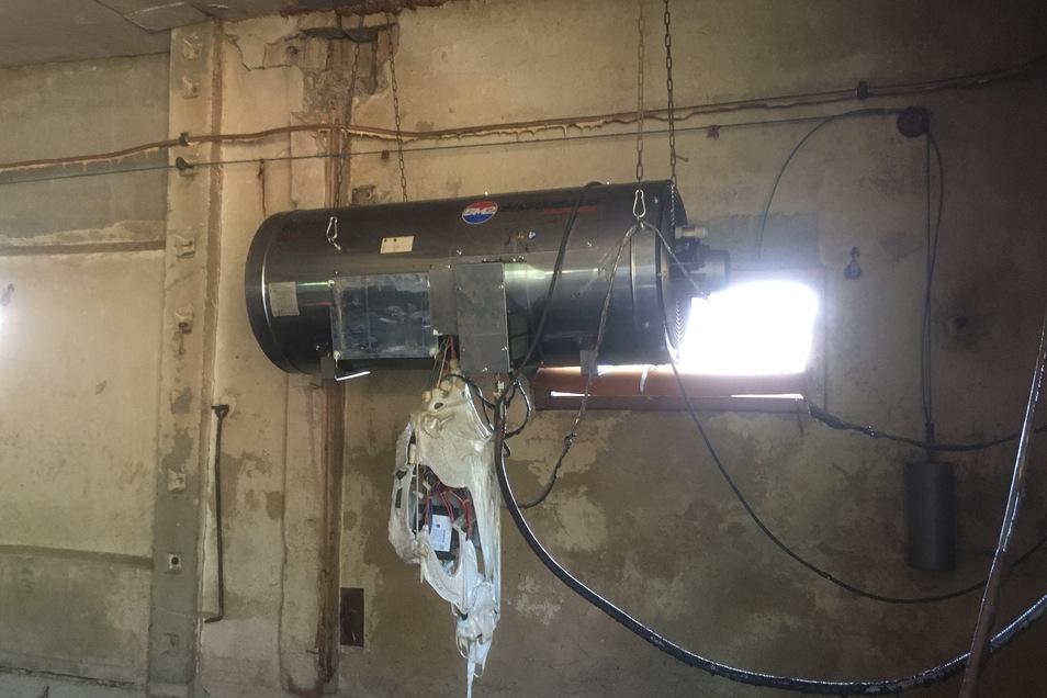 """Ein technischer Defekt an dieser """"Heizkanone"""" löste den Brand wahrscheinlich aus."""