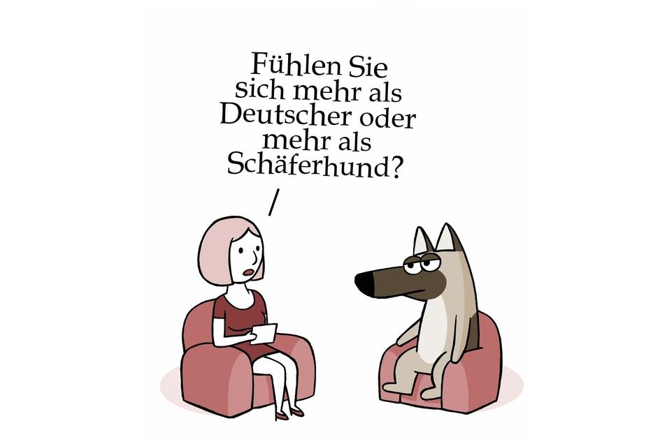 Wo gehört man eigentlich hin? Die satirisch-schräge Sicht auf Heimat gibt es bei einer Schau in der Pirnaer Volksbank.