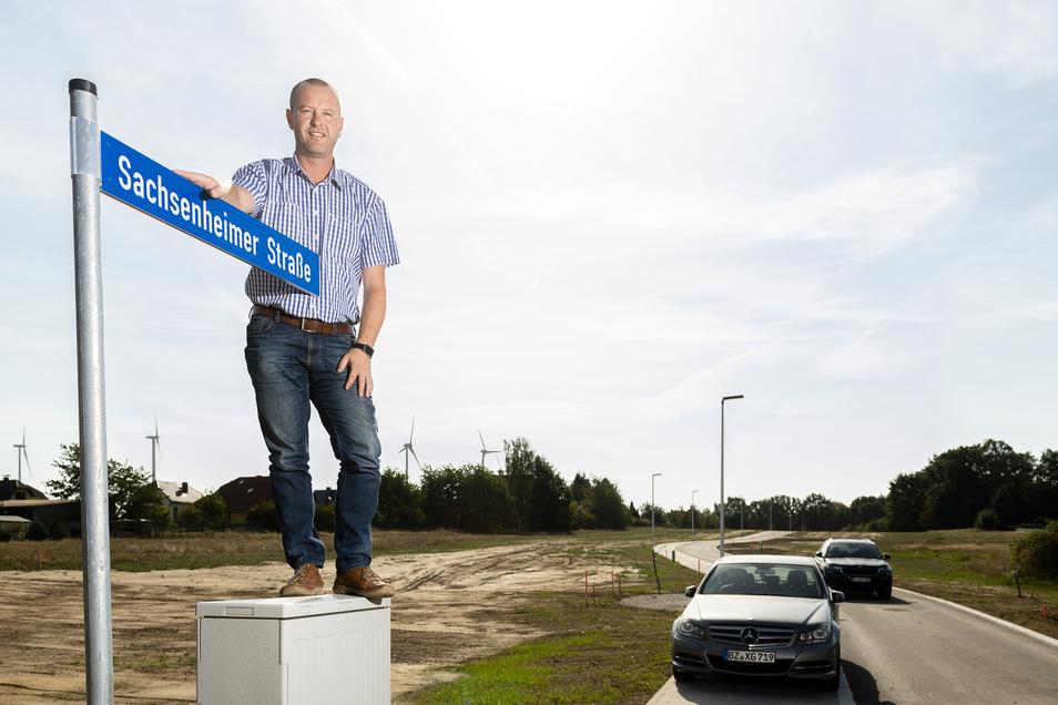 Bürgermeister Sebastian Hein freut sich über die Zuwächse in seiner Gemeinde.