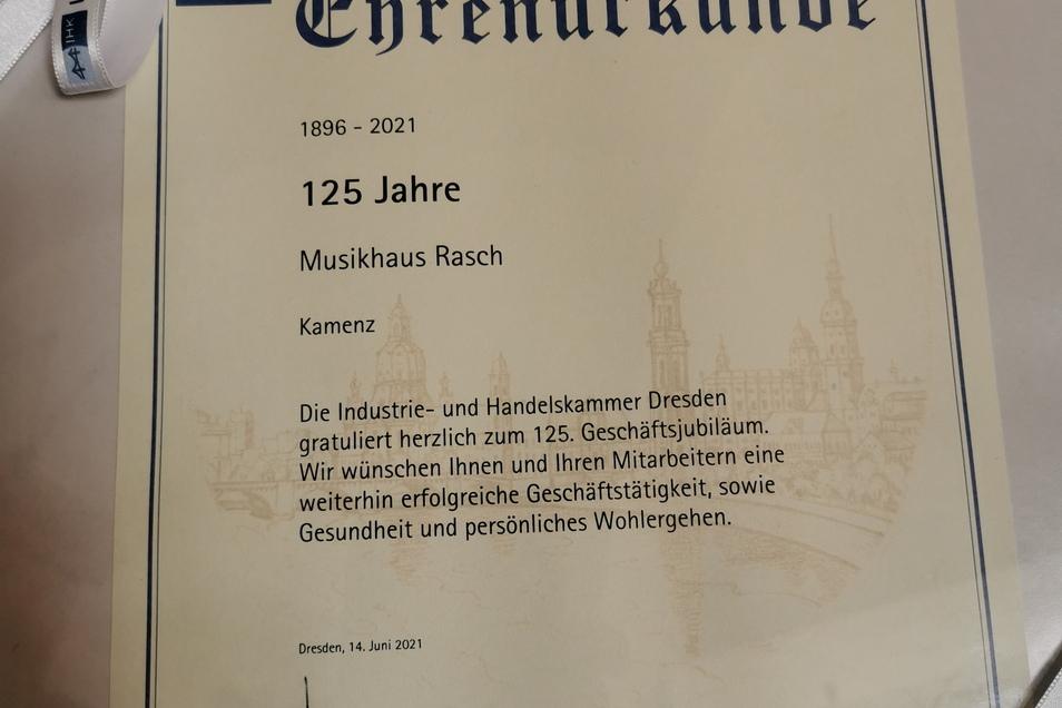 Die IHK beglückwünschte Familie Rasch kürzlich zum 125. Geschäftsjubiläum.
