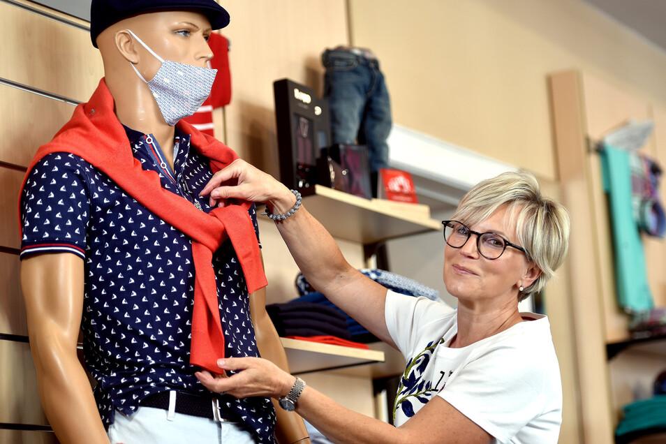 """Christina Bigalke von """"Männermode & Jeans"""" ist zufrieden mit dem Neustart nach der Corona-Pause."""