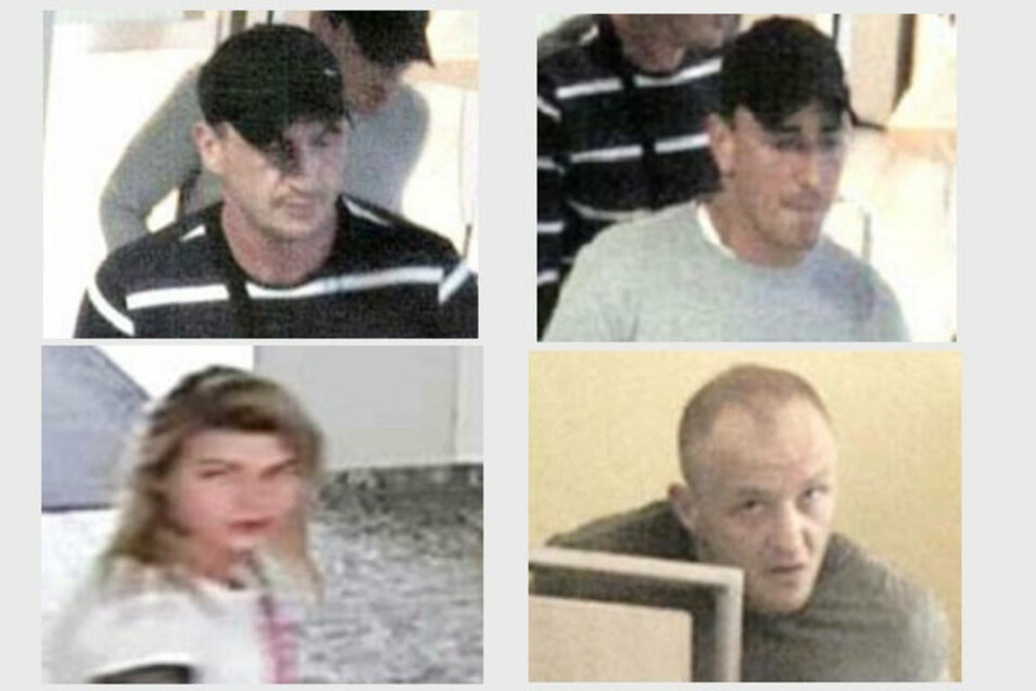 Diese vier Personen wurden von Überwachungskameras aufgenommen.
