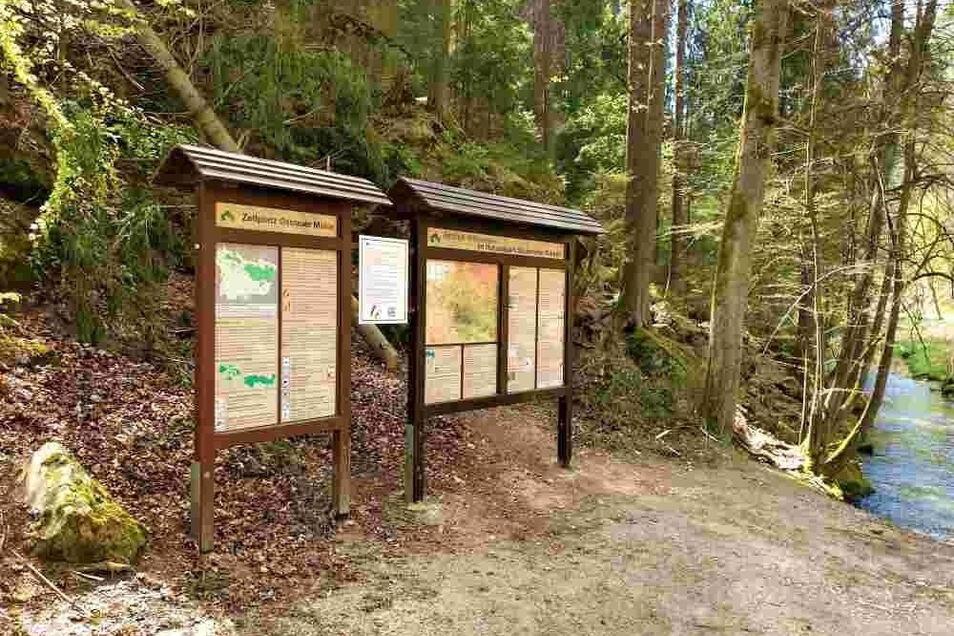 Die Informationstafel am der Ostrauer Mühle steht wieder zur Verfügung.