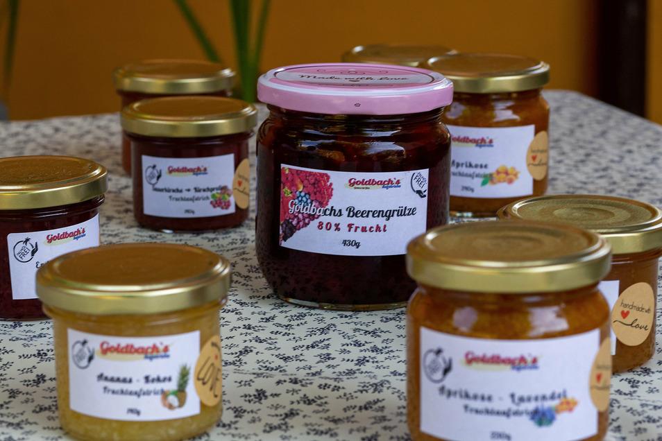 Beerenobst, Ananas oder auch Schokolade - die Goldbachs experimentieren gerne mit allerlei Zutaten. Es gibt sogar herzhafte Brotaufstriche.