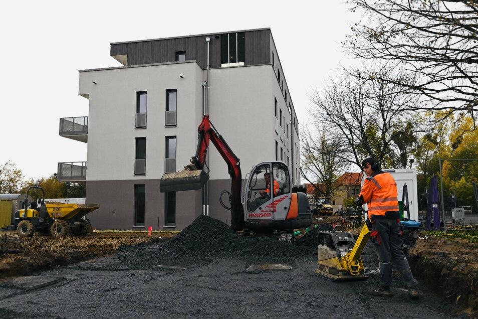 An der Weßnitzer Straße baut die Genossenschaft zwei neue Wohngebäude. Sie sind schon fast vollständig vermietet.
