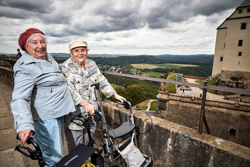 Die Festung Königstein ist zum größten Teil barrierefrei und auch mit einem Rollator zu besichtigen.