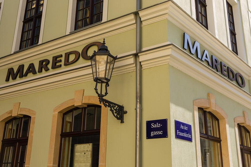 Eine Filiale der Steakhaus Kette Maredo am Dresdner Neumarkt.