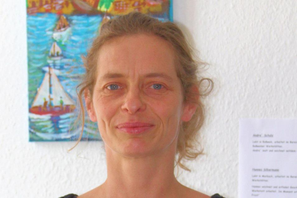 Astrid Sommer leitet das Bürgerhaus in Roßwein – zurzeit unter erschwerten Bedingungen.