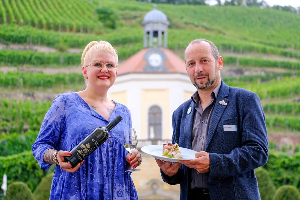 Am kulinarischen Vernetzungstreffen auf Schloss Wackerbarth in Radebeul nahmen Lisa Angermann, Köchin aus Leipzig, und Karsten Ringpfeil von der Teichwirtschaft Ringpfeil aus Königswartha teil.