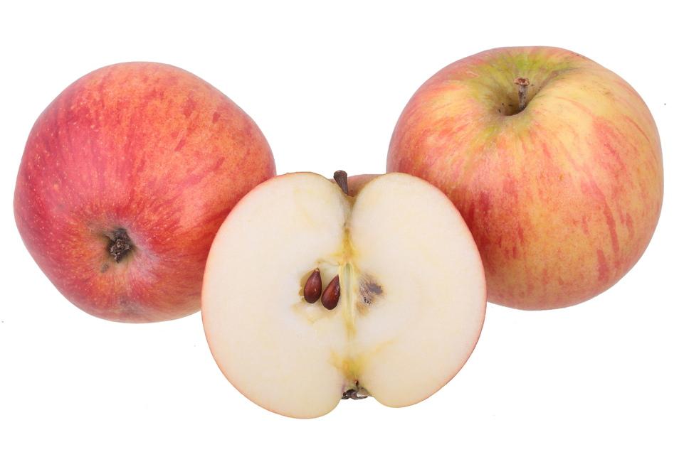 Die Äpfel werden wegen ihre rot-marmorierten Früchte für ihren würzigen, süß-säuerlichen Geschmack geschätzt.
