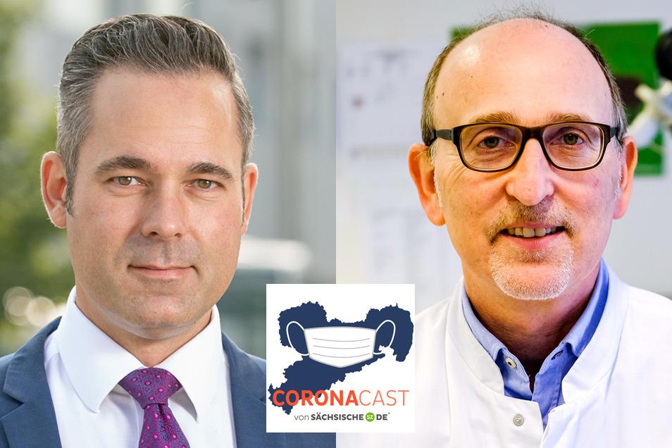 Der CDU-Politiker Jan Hippold leidet unter den Spätfolgen einer Corona-Infektion. Dr. Dirk Koschel ist Lungenspezialist am Fachkrankenhaus Cowig.