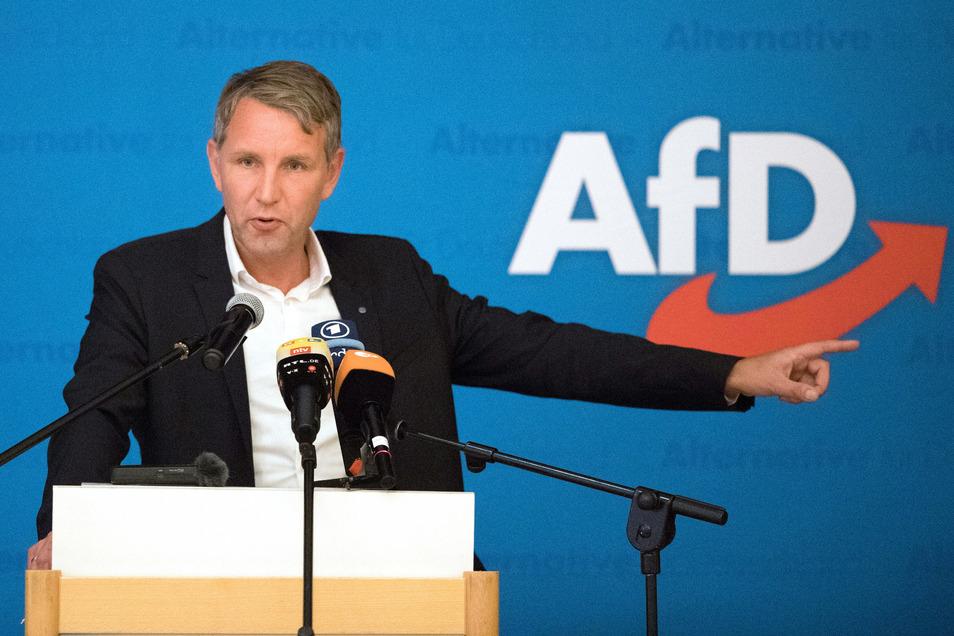 """""""Wir machen den Osten blau"""", sagt Björn Höcke .zum   Wahlkampfauftakt der sächsischen AfD in Lommatzsch"""