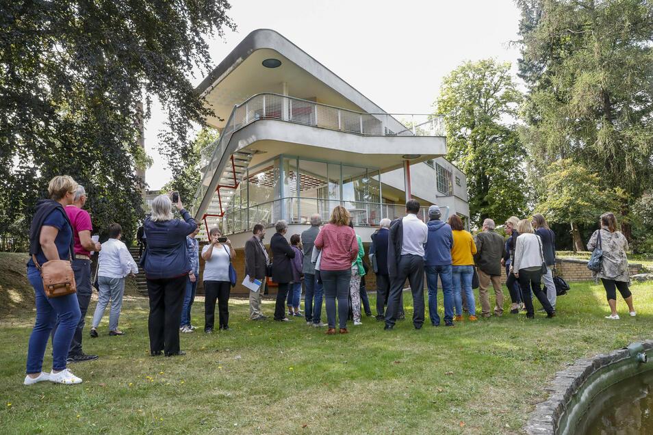 Blick auf das Haus Schminke zum Tag der offenen Tür voriges Jahr.