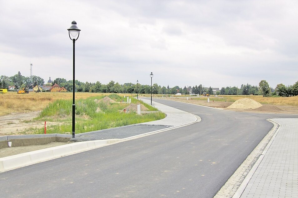 Die Straßen im neuen Schleifer Ortsteil sind fertig, die Grundstücke erschlossen