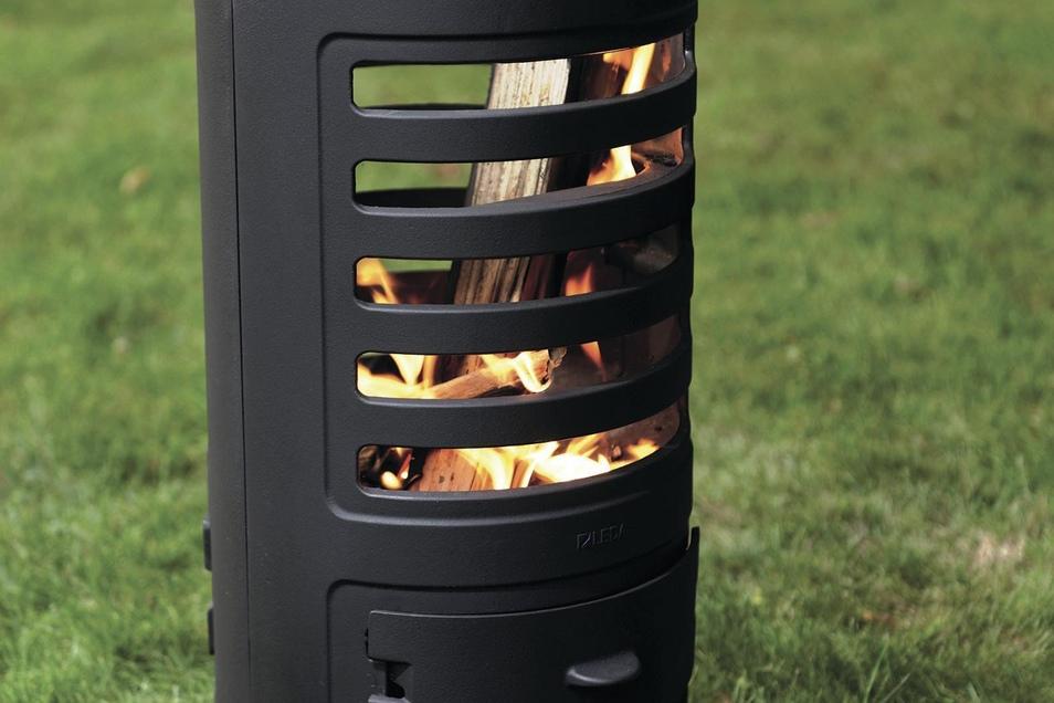 Hochwertes Gusseisen macht das Feuer im Garten zum sicheren Vergnügen.