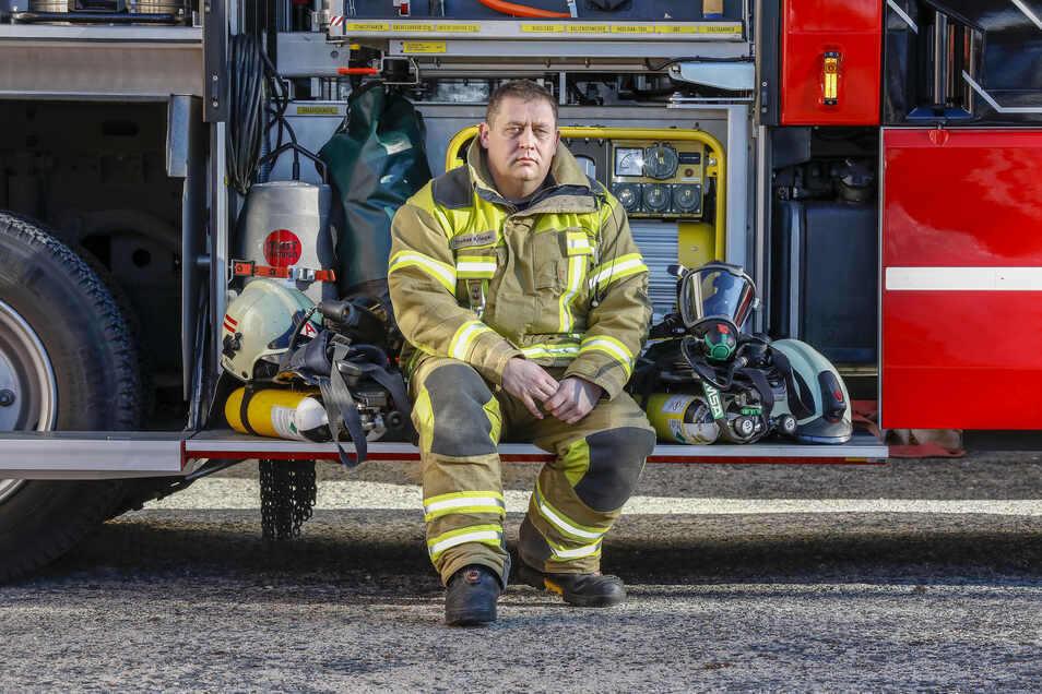 Thomas Kriegel ist Stadtwehrleiter in Ebersbach-Neugersdorf. Ein Feuerteufel hielt ihn und seine Kameraden 2019 in Atem.