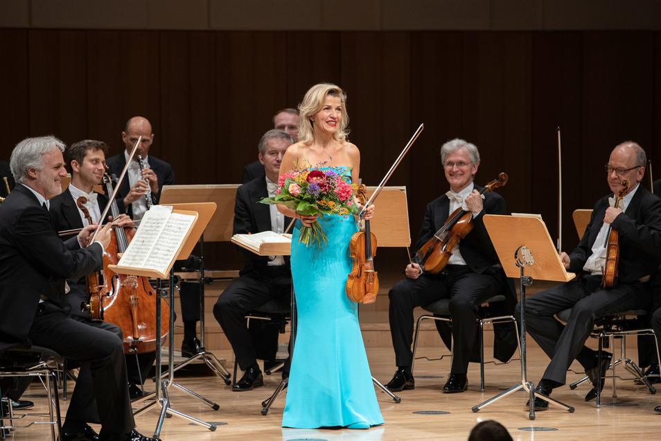 Anne-Sophie Mutter im Mai bei ihrem Auftritt im Kulturpalast anlässlich der Musikfestspiele.