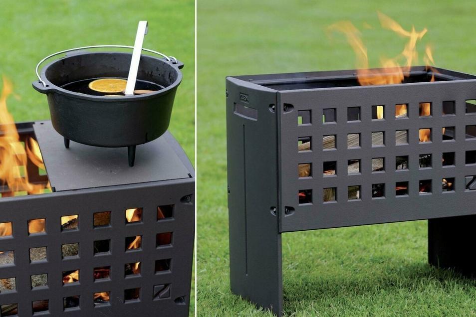 Die gusseiserne Feuerbox ist mehr als nur eine Feuerstelle – auf ihr kann man ebenso gut grillen, wärmen, braten und kochen.