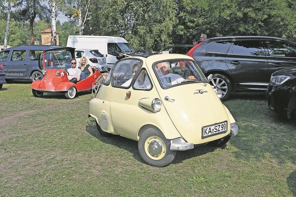 Isetta, Goggomobil und Messerschmidt Kabinenroller – so hießen die originellen Gefährte mit denen die Motorisierung nach 1945 in Westdeutschland begann. Einige der bestens gepflegten Exemplare rollten während einer Ausfahrt am Wochenende durch Weißwasser.