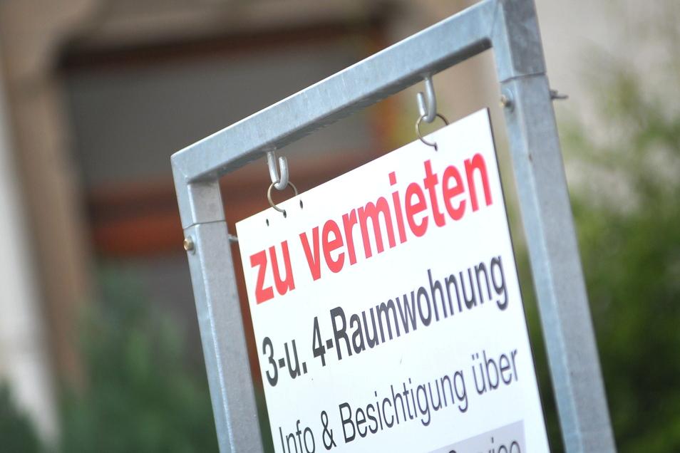 Es gibt auch in Sachsens Städten Wohnraum - aber der ist für viele unbezahlbar.