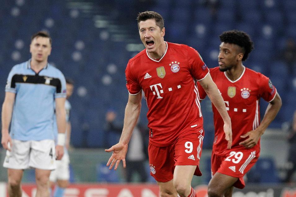 Schon nach neun Minuten brachte Weltfußballer Robert Lewandowski die Bayern in Führung.