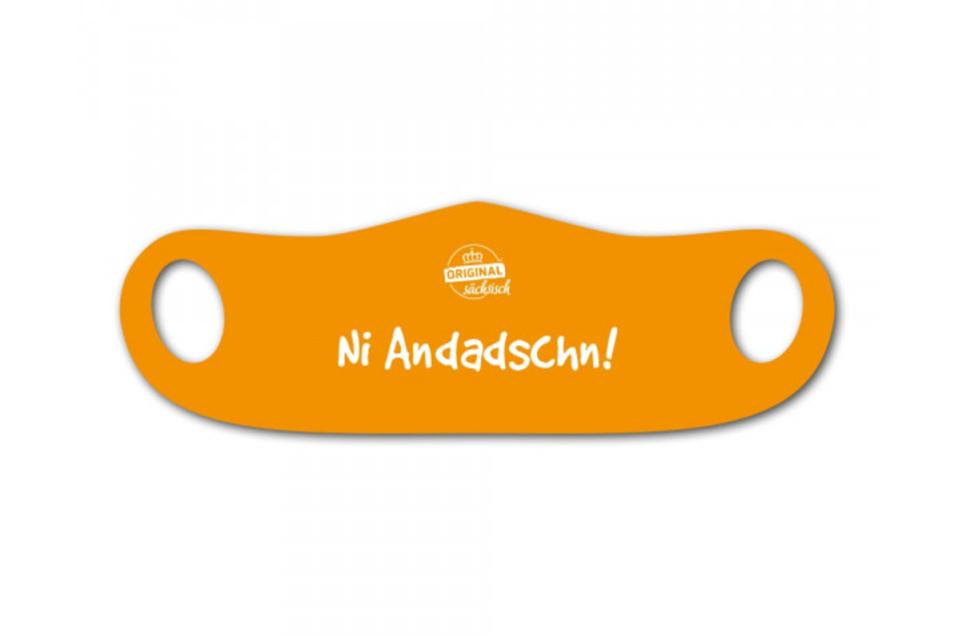"""Mund- und Nasenmaske """"Ni Andadschn!"""""""