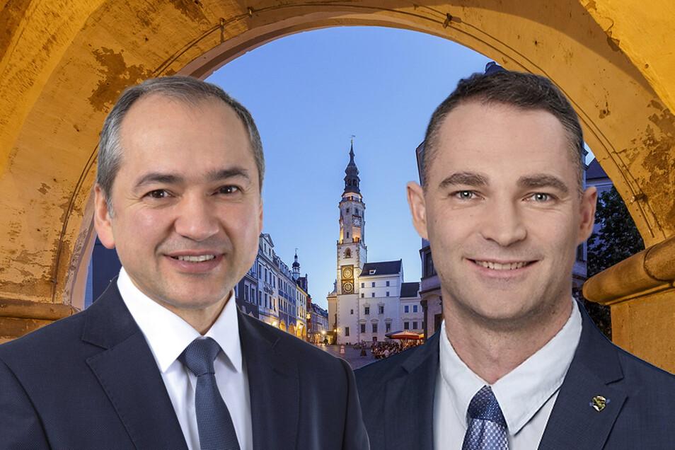 Octavian Ursu (CDU) und Sebastian Wippel (AfD) stellen sich zur Wahl als OB in Görlitz.
