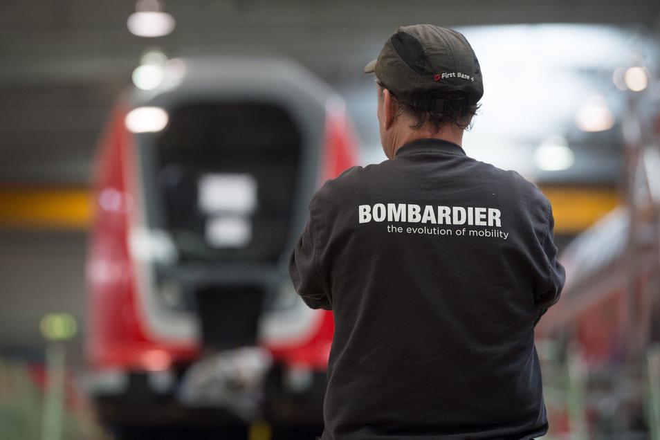 Sorgen bei Bombardier-Mitarbeitern in Bautzen: Wie geht es weiter mit dem Werk, wenn die Zugsparte an den französischen Konzern Alstom verkauft wird?