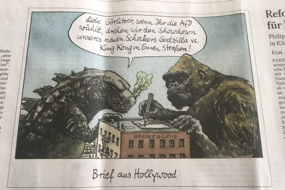 Karikatur: Ausriss aus der FAZ