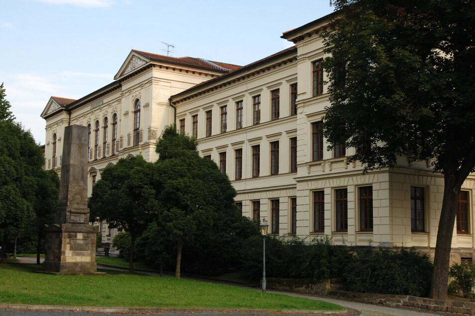 Unter anderem die Konstitutionssäule vor dem Zittauer Gymnasium soll der Jugendliche beschmiert haben.