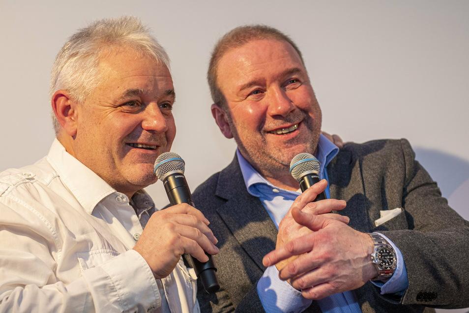 Privat befreundet und auch im Eiskanal seit Jahren ein Team: Harald Czudaj (links) und Rainer M. Jacobus.
