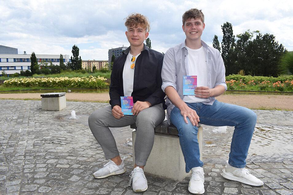 Maximilian Buder (links) und Carlo Nitzsche wollen Angebot und Nachfrage bei Ferien-und Aushilfsjobs übereinbringen.