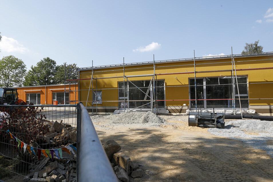 Beim Bau der neuen Kita in Oppach geht es in die letzte Phase.