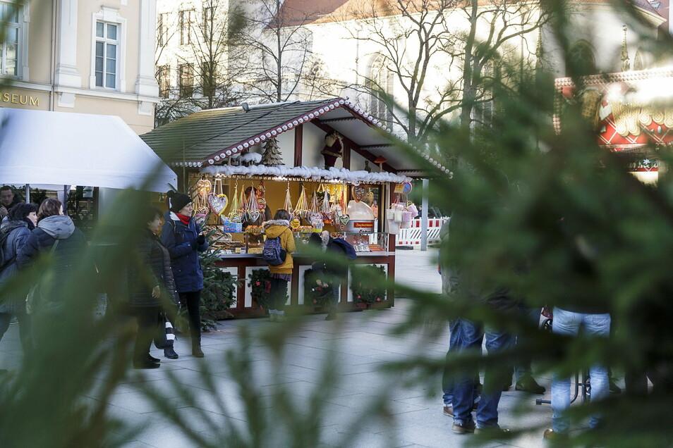 So sah die Weihnachtsmeile 2019 auf dem Marienplatz aus.