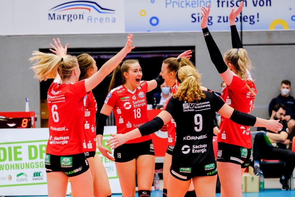 Zwischenziel erreicht: Die DSC-Volleyballerinnen sind nach der Hauptrunde das beste Team der Bundesliga.