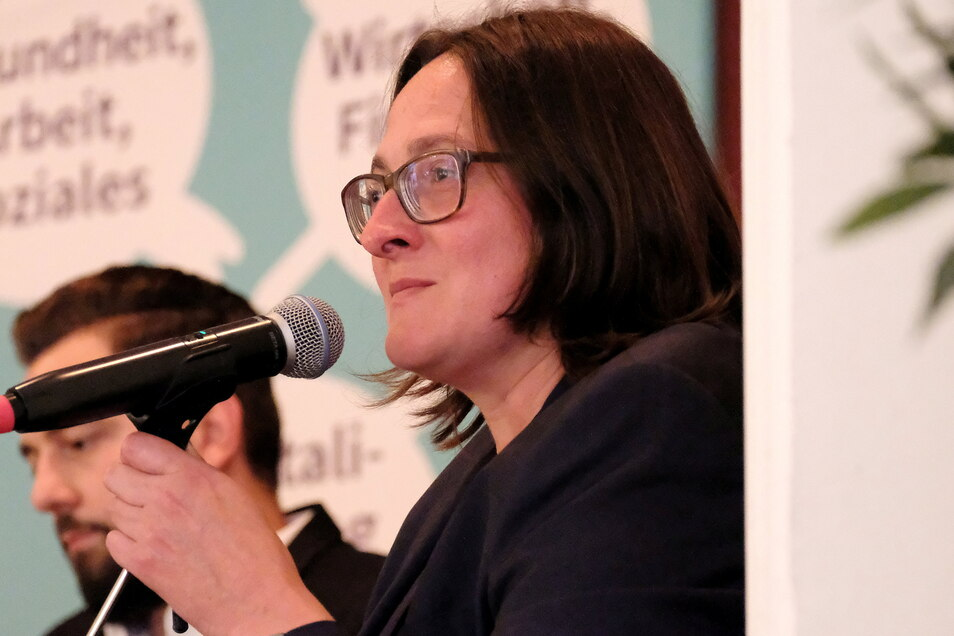 Barbara Lenk fiel im Wahlforum durch den geringsten Redeanteil auf.