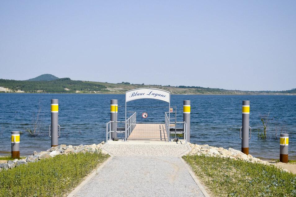 Der Bootssteg Blaue Lagune soll wie die anderen auch umgebaut werden, damit Schiffe besser anlegen können.