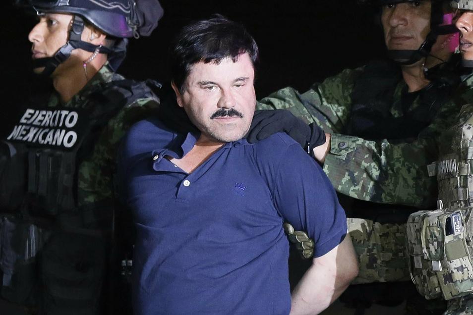 """Seine Schreckensherrschaft ist vorbei: Drogenboss Joaquin Guzman Loera, besser bekannt als """"El Chapo""""."""
