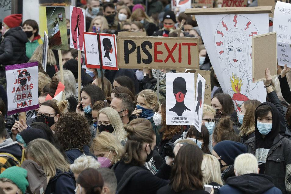 In Polen wurde kürzlich das Abtreibungsrecht verschärft. Danach gab es Proteste.