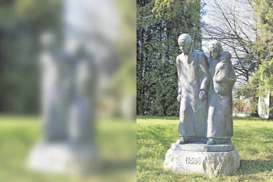 Ein Denkmal für Vertriebene aus Gablonz, heute Jablonec in Tschechien, erinnert in Neugablonz bei Kaufbeuren an das Leid von Millionen Menschen nach dem Zweiten Weltkrieg.