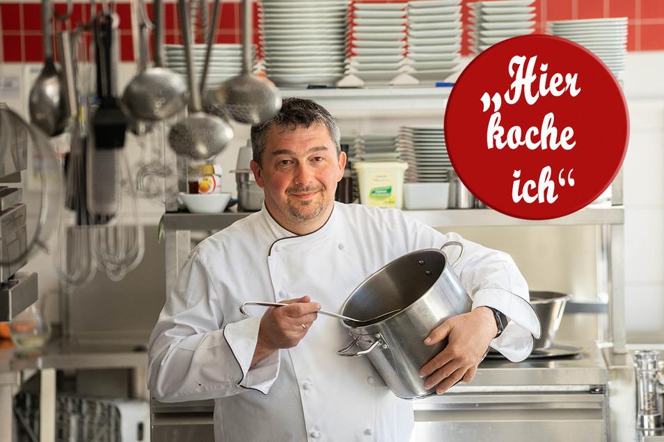 Enrico Schulz vom Tautewalder Erbgericht hofft, dass er bald wieder in großen Töpfen kochen kann. Bis dahin bereitet er des Öfteren einen Frühlingssalat mit einer besonderen Zutat zu.