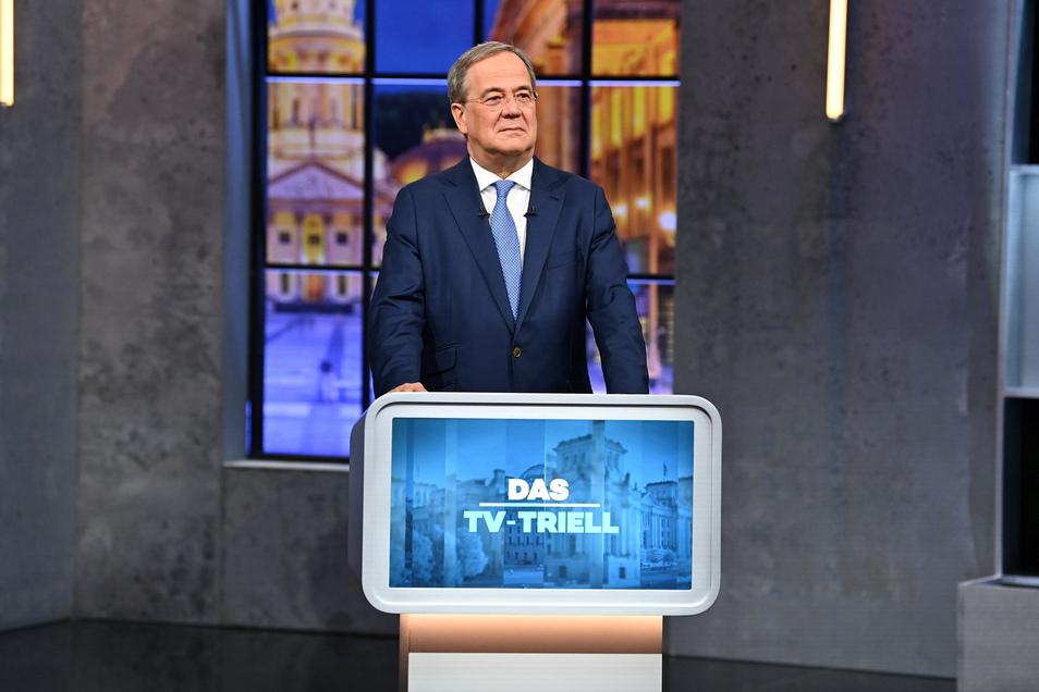 Armin Laschet beim dritten TV-Triell am Sonntag