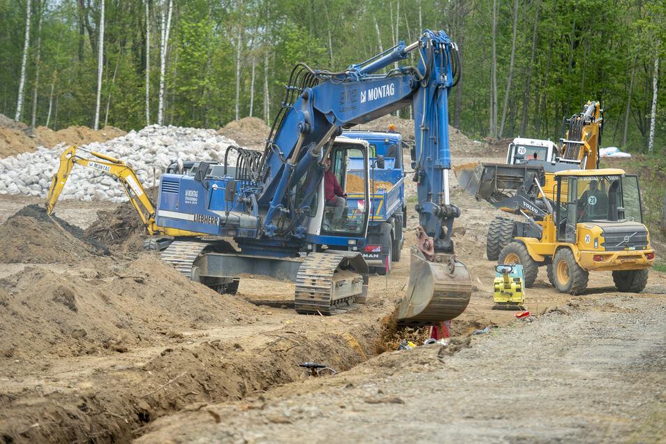 Im neuen Gewerbegebiet an die Kirschallee II in Langburkersdorf sollen sich bald Firmen ansiedeln.