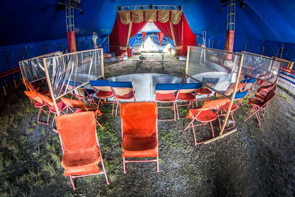 So sah es im Zelt aus.