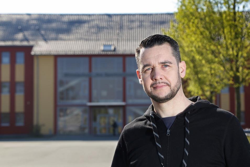 """Sven Borner ist Industrieelektroniker, FDP-Ortschef - und gehört künftig der neuen Fraktion """"Unternehmen Riesa"""" an."""